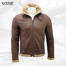 Men's Brown Nappa Leather Sheepskin Biker Jacket