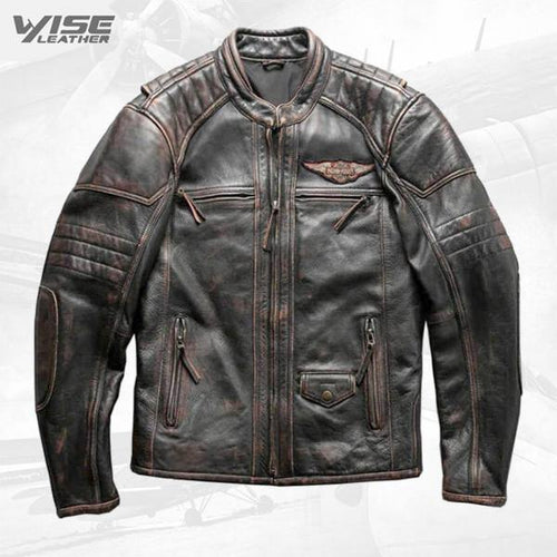 Men's Harley Davidson Passion Velocity Biker Real Genuine Leather Jacket