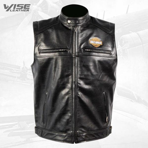 Men's Vintage Harley Davidson Motorcycle Biker Real Leather Motorcycle Jacket