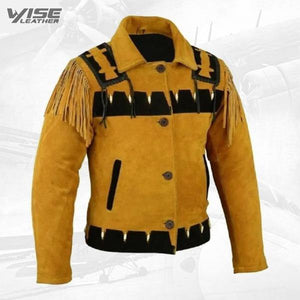 Men's Western Cowboy and Suede Leather Jacket - Wiseleather