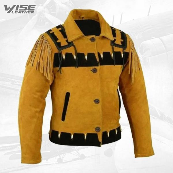 Men's Western Cowboy and Suede Leather Jacket