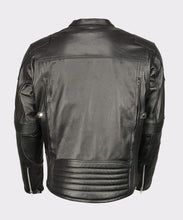 MEN'S ARMORED TRIPLE VENT LEATHER JACKET STRETCH SIDE