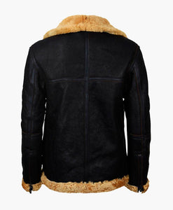 MENS FLYING BROWN VINTAGE REAL LEATHER JACKET WITH FUR - Wiseleather