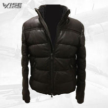 Men's Puffer Body Warmer Leather Waistcoat Sleeveless Casual Jacket
