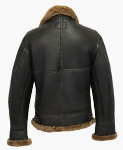 MENS WINTER AVIATOR B3 LEATHER JACKET WITH FUR