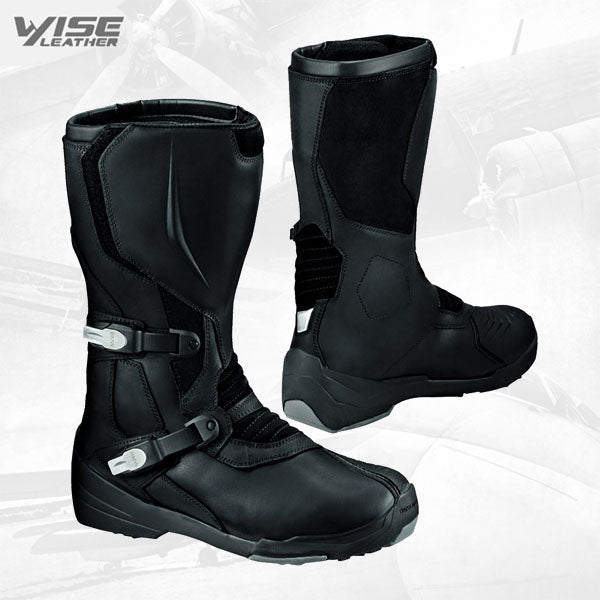 Motogp Bmw Gravel Leather Boot And Black