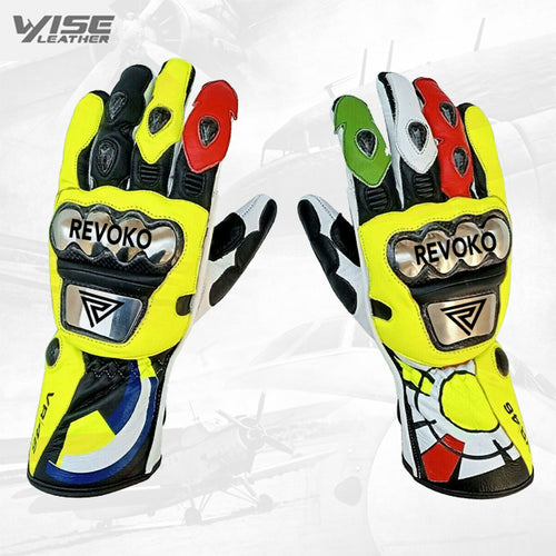 Motorcycle Leather Gloves 2014 Model Rossi Motorbike Gloves Racing Gloves Bike