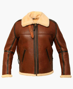 NEW MEN'S DISTRESSES FLIGHT LEATHER JACKET WITH FUR - Wiseleather