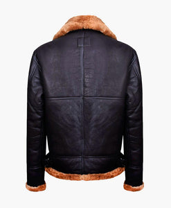 NEW MENS AVIATOR BOMBER LEATHER JACKET WITH FUR - Wiseleather