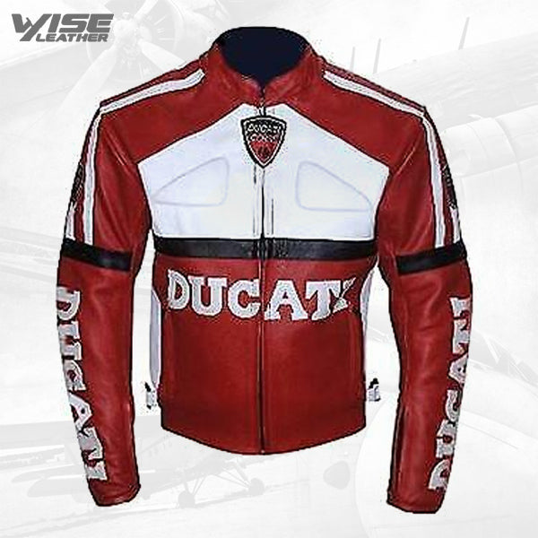 New Ducati Men's Leather Jacket Black New Motorcycle Riding Leather Jacket