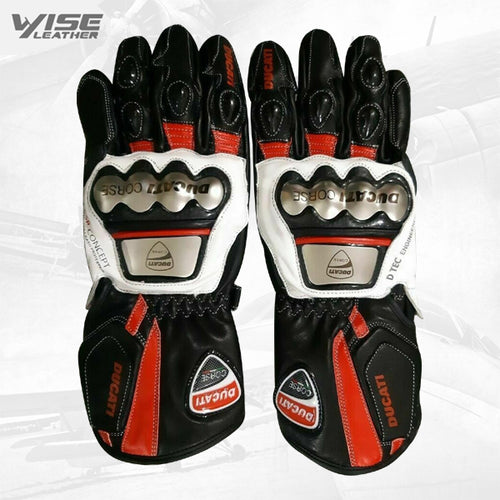 New Motogp racing leather Gloves Motorbike Leather Glove