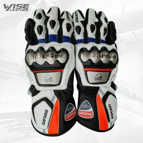 New Motogp racing leather Gloves Motorbike Leather Gloves