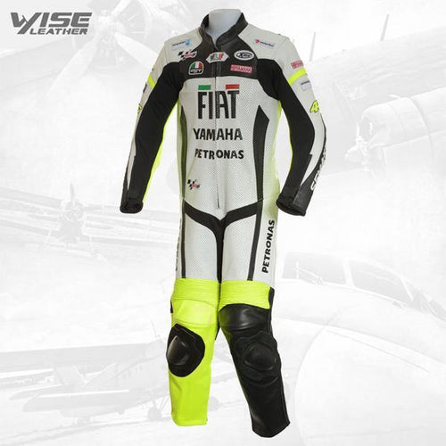 ROSSI FIAT YAMAHA JUNIOR 1PC BIKER LEATHER SUIT