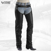 RUGGED BIKER LEATHER CHAPS