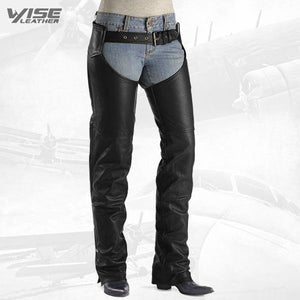 RUGGED BIKER LEATHER CHAPS - Wiseleather