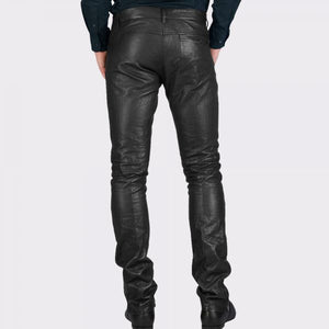 SKINNY INFORMAL LEATHER PANT - Wiseleather