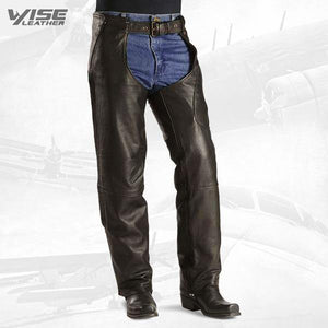STYLISH AND FUNCTIONAL BIKER CHAPS - Wiseleather