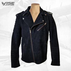Schmitt's Biker Style Suede Leather Jacket - Wiseleather