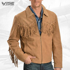 Scully Fringed Suede Leather Short Jacket - Wiseleather