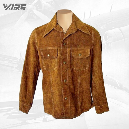 Tan Suede Leather Shirt