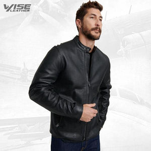 Trendy Black Jacket For Men - Wiseleather