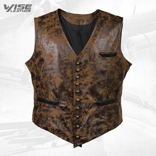 Victorian Steampunk Gothic Retro Wind Leather Cowboy Vest