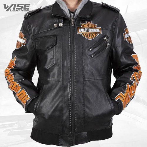 Vintage Harley Davidson Jacket Cropped American Legends Motorcycle Leather Jacket