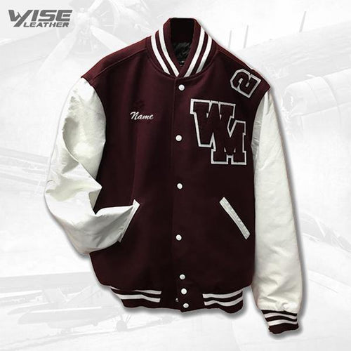 WARREN MOTT VARSITY JACKET - WHITE SLEEVES