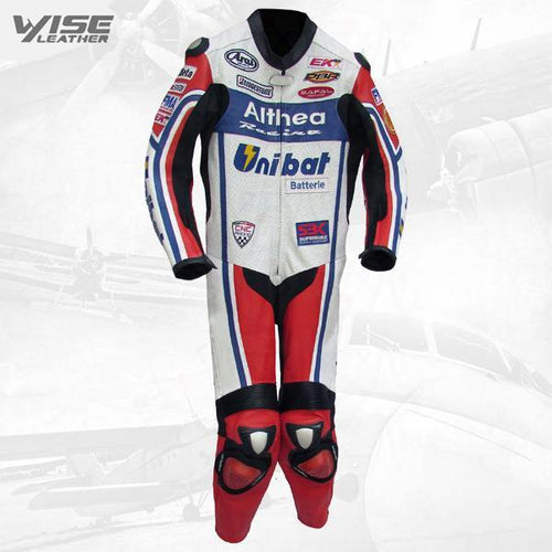 WSB CARLOS CHECA ALTHEA RACING BIKER LEATHERS SUIT