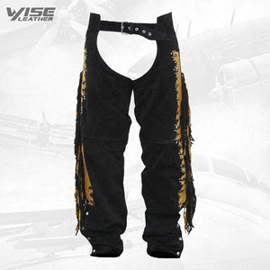 Western Leather Indian Chaps Pants ,Western Carnival Fasching - Wiseleather