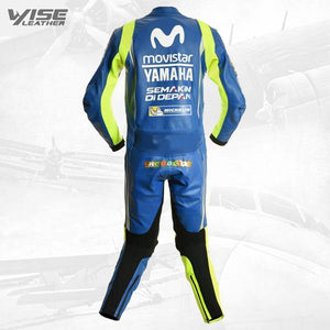 YAMAHA MOVISTAR ROSSI 46 RACE REPLICA MOTORCYCLE SUIT - Wiseleather