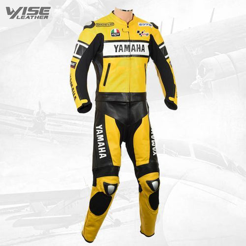 YAMAHA YELLOW ROSSI 46 EDITION LEATHER MOTORCYCLE SUIT
