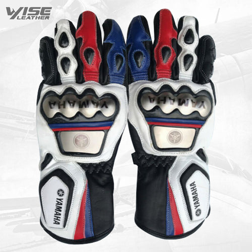 Yamaha Motorbike Leather Motogp Riding Gloves