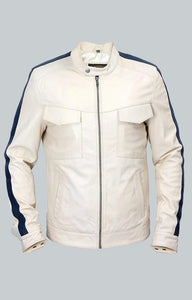 AARON PAUL NEED FOR SPEED WHITE JACKET - Wiseleather