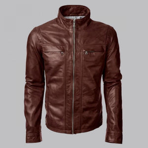 ARROW JOHN DIGGLE BROWN LEATHER JACKET - Wiseleather
