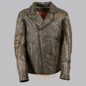 BELTLESS BROWN LEATHER MOTORCYCLE JACKET - Wiseleather