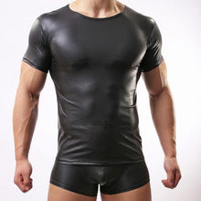 Black Leather T Shirt