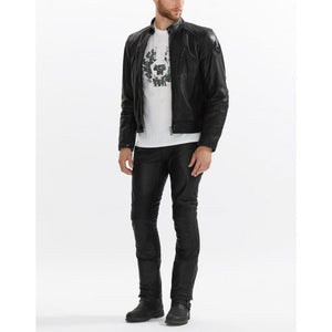 Stylish Addiction Moto Leather Pants - Wiseleather
