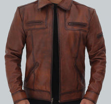 BRADFORD CASUAL LEATHER JACKET MENS