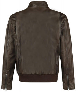 CALL OF DUTY WWII MENS BROWN LEATHER JACKET - Wiseleather