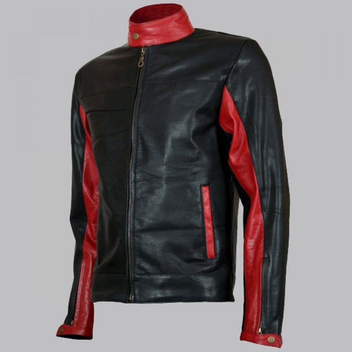 CHRISTIAN BALE LEATHER JACKET