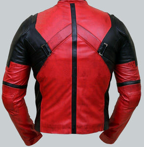 DEADPOOL RED LEATHER JACKET - Wiseleather
