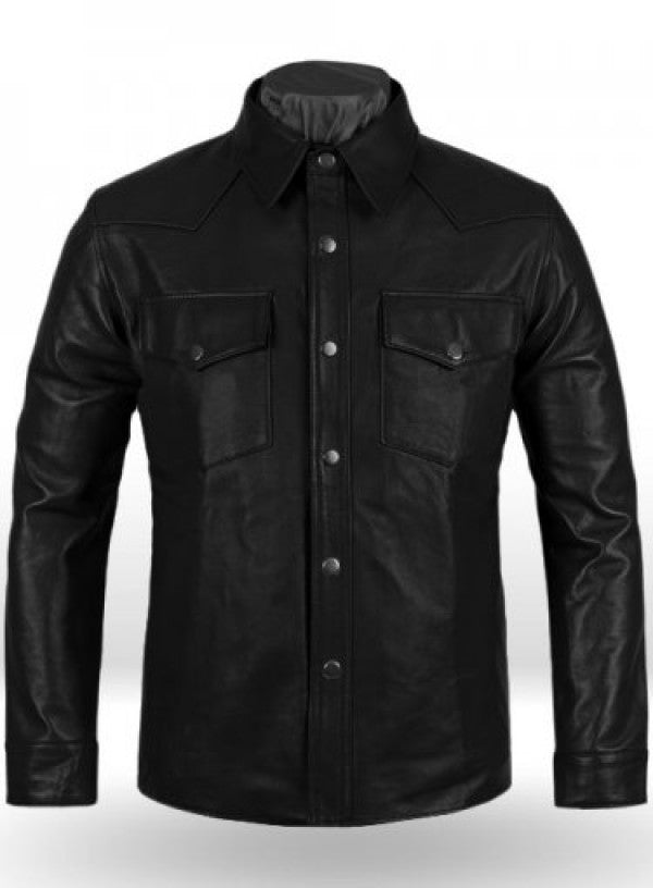 Superiority Men Leather Shirt