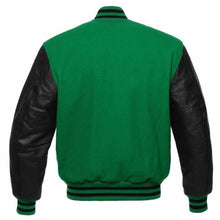 GREEN VARSITY JACKET MENS