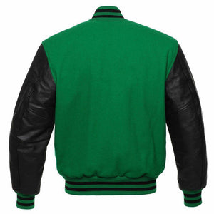 GREEN VARSITY JACKET MENS - Wiseleather