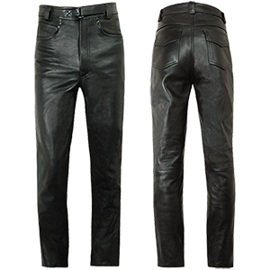 Men's Heavy Duty Leather Jeans - Wiseleather