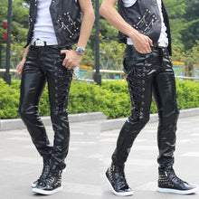 Lace-up Ambition Male Leather Pants