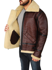 MEN SHEARLING B3 BOMBER JACKET - Wiseleather