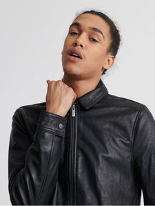 Casual Leather Jacket For Men - Wiseleather