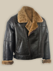 MEN BLACK B3 SHEEPSKIN JACKET - Wiseleather